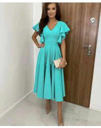 Елегантна дамска рокля в цвят мента - код 3926