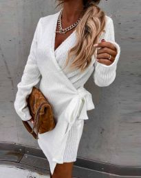 Ефектна рокля в бяло - код 9846