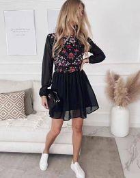 Стилна дамска рокля в черно - код 3482