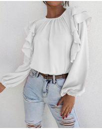 Дамска блуза в бяло - код 1603