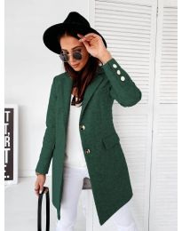 Дамско палто в зелено - код 1514