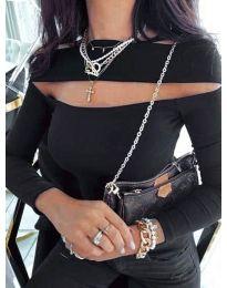 Елегантна блуза в черно - код 5766