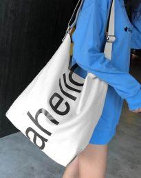 Ефектна дамска чанта в бяло - код B293