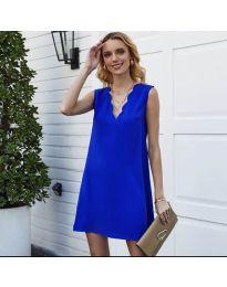 Свободна изчистена рокля в тъмно синьо - код 1429