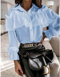 Кокетна дамска риза в светло синьо - код 2433