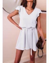 Изчистена рокля в бяло - код 5551