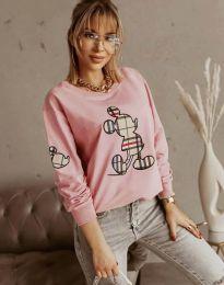 Дамска блуза в розово с принт - код 2959