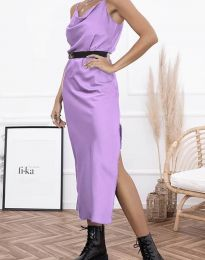 Дамска рокля в светлолилаво - код 6231