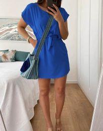 Дамска рокля в синьо - код 2258