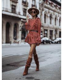 Дамска рокля в  червено - код 0701