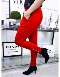 Дамски втален панталон в червено - код 786