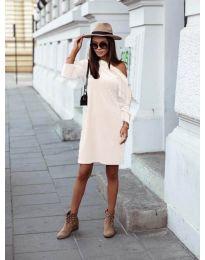 Дамска рокля в бяло - код 8171
