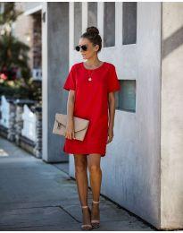 Свободна изчистена рокля в червено - код 253