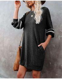 Свободна атрактивна рокля в черно - код 5925