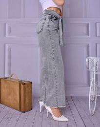 Модерни дамски дънки в сиво - код 4865