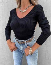 Стилна дамска блуза в черно - код 5918