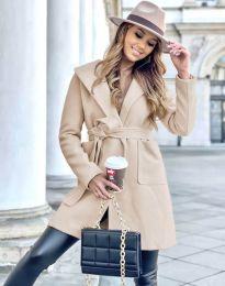 Дамско палто в бежово - код 4973