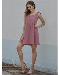 Изчистена рокля в пудра - код 2255