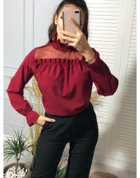 Атрактивна дамска блуза в бордо - код 0626