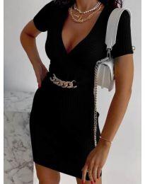 Стилна рокля по тялото в черно - код 4305