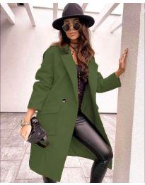 Дамско палто в маслено зелено - код 7278