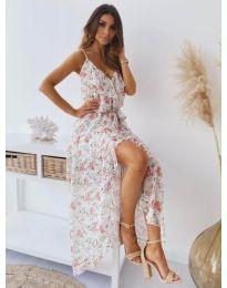 Феерична  рокля в бяло - код 0011