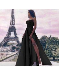 Елегантна дълга рокля в черно - код 113