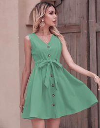 Дамска рокля в цвят мента - код 8188