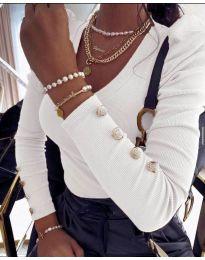 Дамска блуза в бяло - код 2065