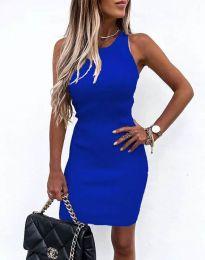Изчистена рокля по тялото в синьо - код 6331