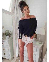 Дамска блуза в черно - код 3732