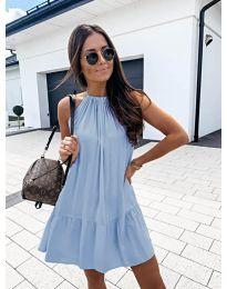 Феерична рокля в светло синьо - код 632