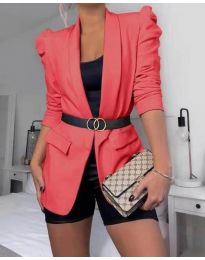 Дамско елегантно сако в оранжево  - код 680