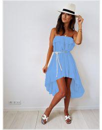 Асиметрична рокля в светло синьо - код 054