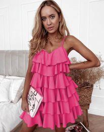 Лятна рокля в цвят циклама - код 8190