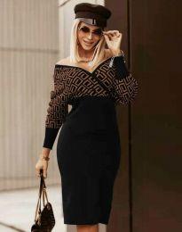 Стилна дамска рокля - код 8296 - 6