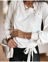 Елегантна блуза в бяло - код 6865