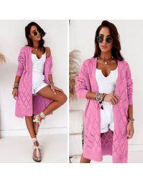 Плетена жилетка в розово - код 6532
