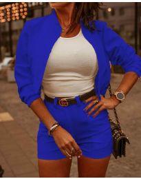 Дамски комплект в синьо - код 9960