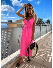 Елегантна рокля в цвят циклама - код 547