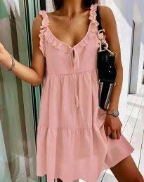 Дамска рокля в розово - код 2540