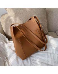 Дамска чанта в цвят капучино - код B11