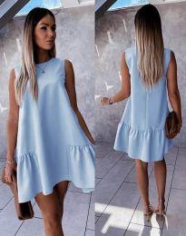 Свободна дамска рокля в светлосиньо - код 3456