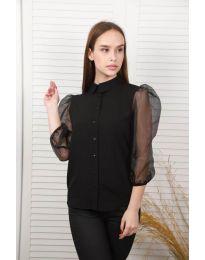 Дамска риза в черно - код 0633