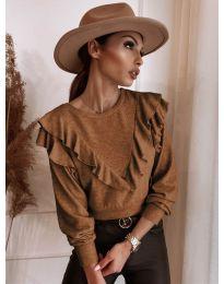 Елегантна блуза в кафяво - код 7200