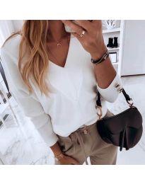 Дамска блуза в бяло - код 0990