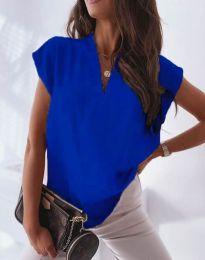Атрактивна дамска блуза в синьо - код 1745