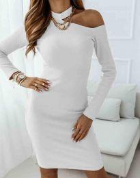 Атрактивна дамска рокля в бяло - код 0984