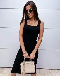 Дамска рокля по тялото в черно - код 5964