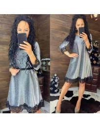 Елегантна рокля в сиво - код 1426